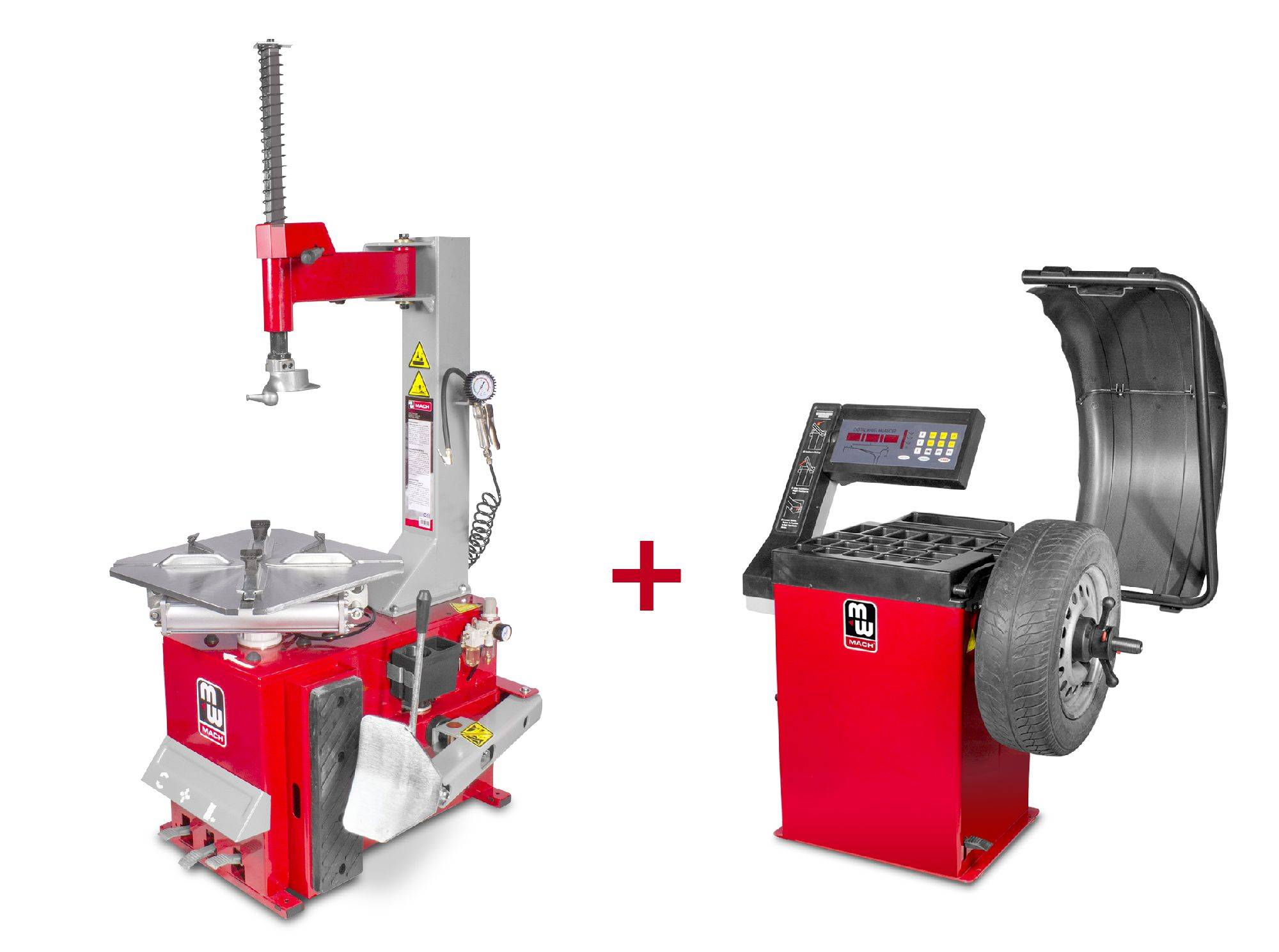 Mw-tools Pack démonte-pneu BT100 3x380V et équilibreuse de roues BB200 220V MW-Tools BT100 SET2