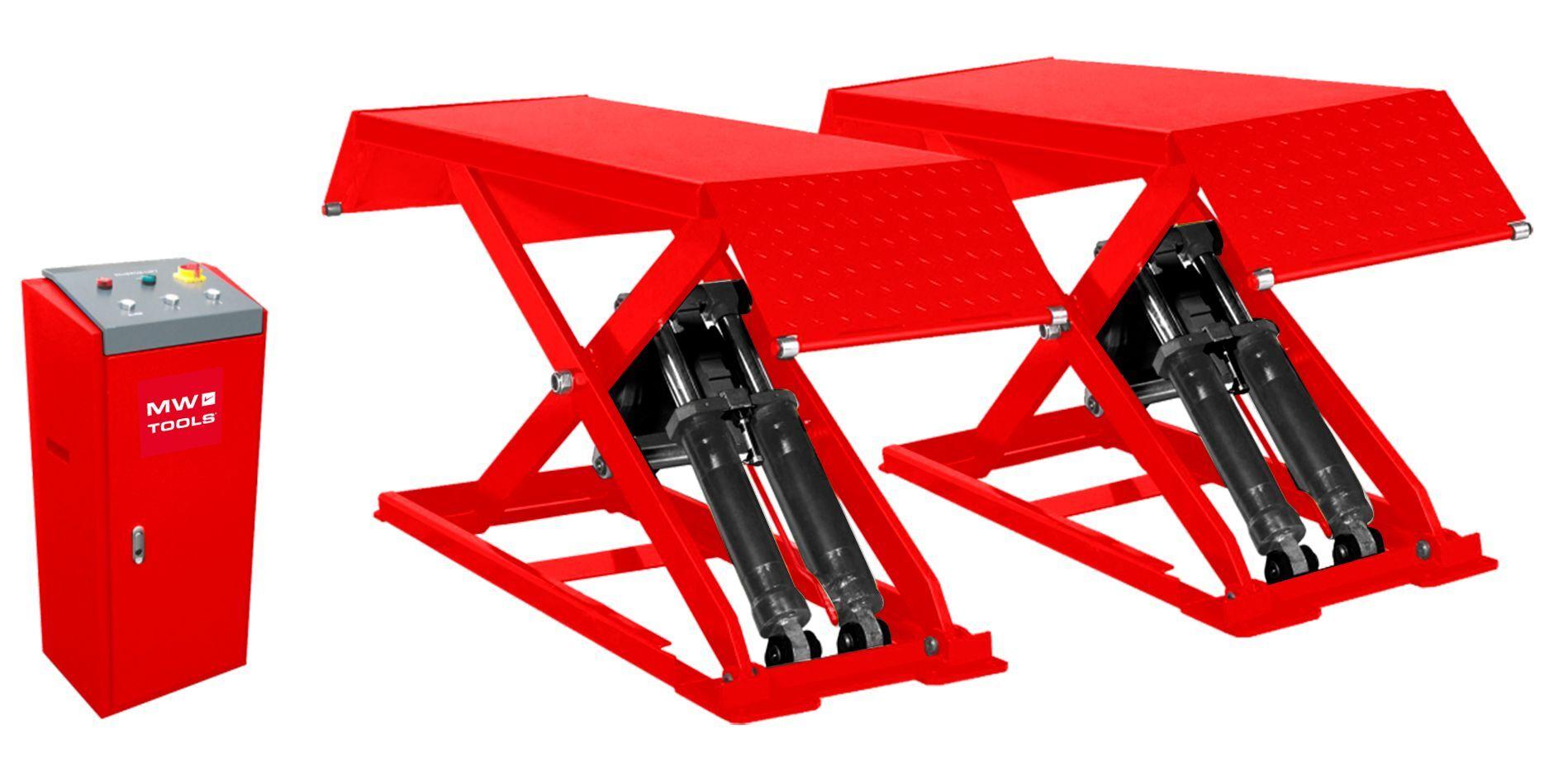 Mw-tools Pont élévateur à ciseaux 3T hauteur de levage 960 mm 220V MW-Tools SL300M