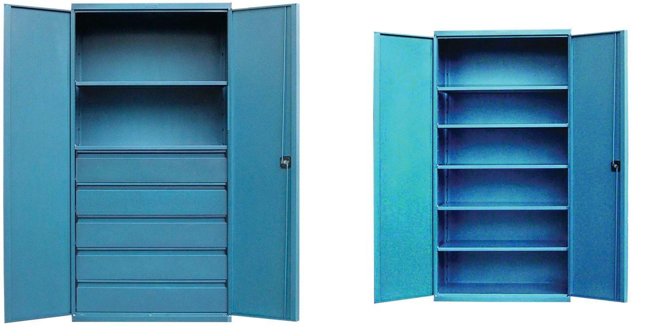 Heco Armoire industrielle à tiroirs - étagères ou casiers Heco HE15910BL