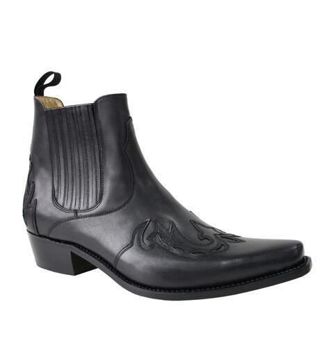SANCHO Bottines cuir homme noir ...