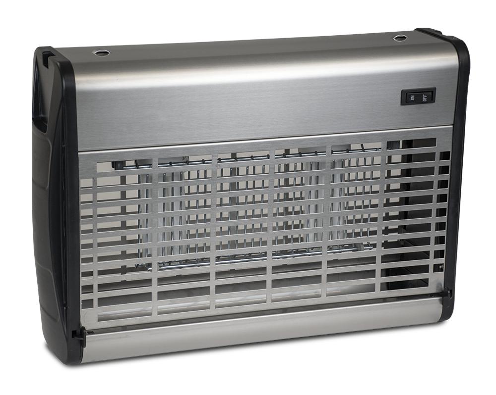 Lioninox Tue mouches électrique inox à grille électrique 30 w. 80 m2 380x105x260 mm