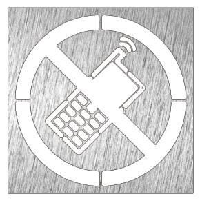 Lioninox Pictogramme inox - tèléphone portable interdit 120x120x mm