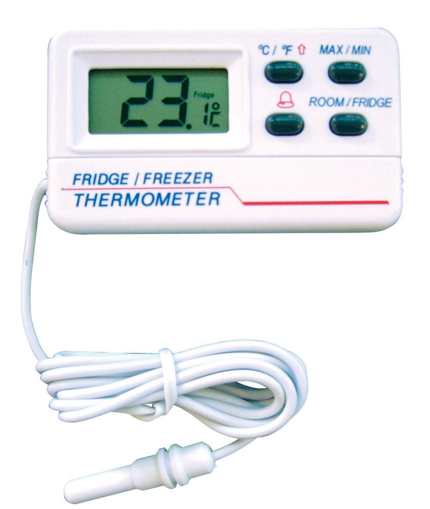 Lioninox Thermomètre digital à sonde pour réfrigérateur et congélateur 60x12x30 mm