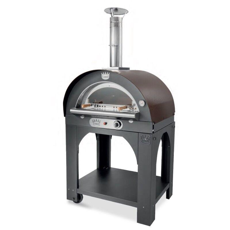 CLEMENTI Four à pizza gaz Mini Pulcinella + base CLEMENTI