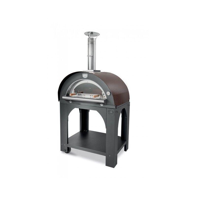 CLEMENTI Four à pizza bois Pulcinella 80 + base CLEMENTI