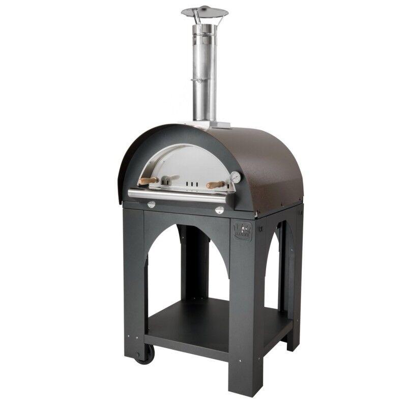 CLEMENTI Four à pizza bois Mini Pulcinella + base CLEMENTI