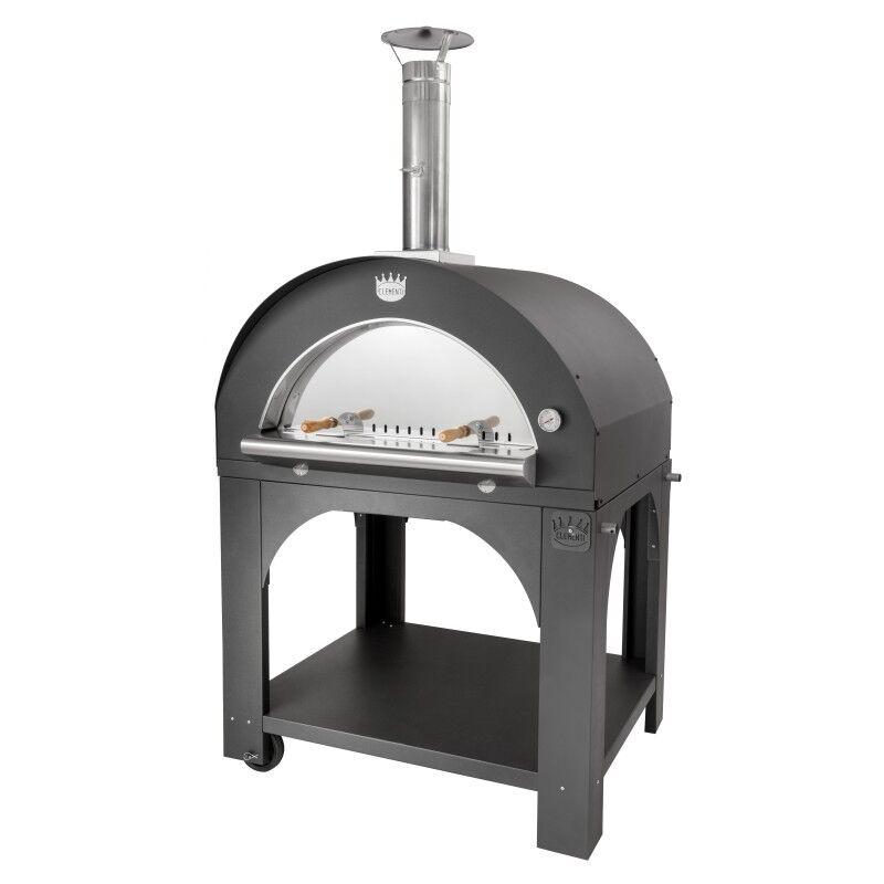 CLEMENTI Four à pizza bois Maxi Pulcinella + base CLEMENTI