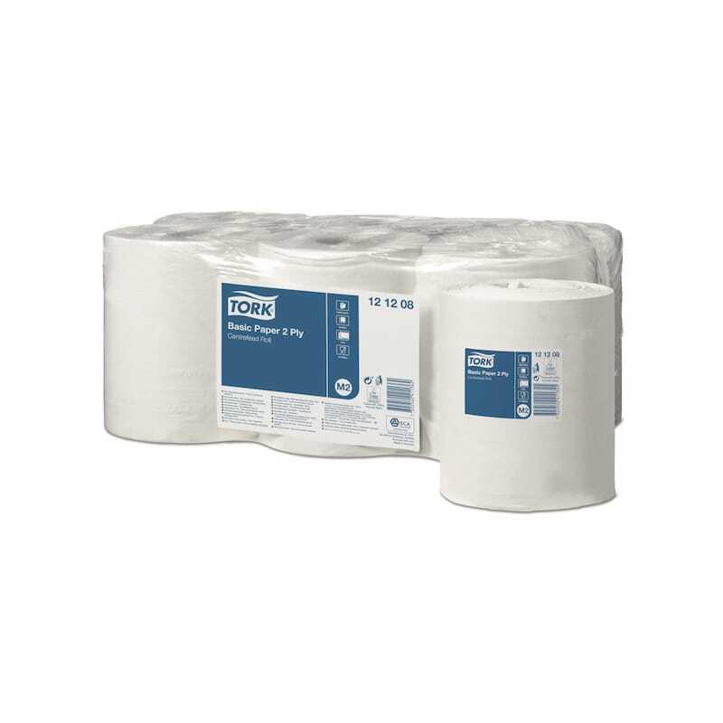 Tork Papier d'Essuyage Basic 2 Plis - Lot de 6