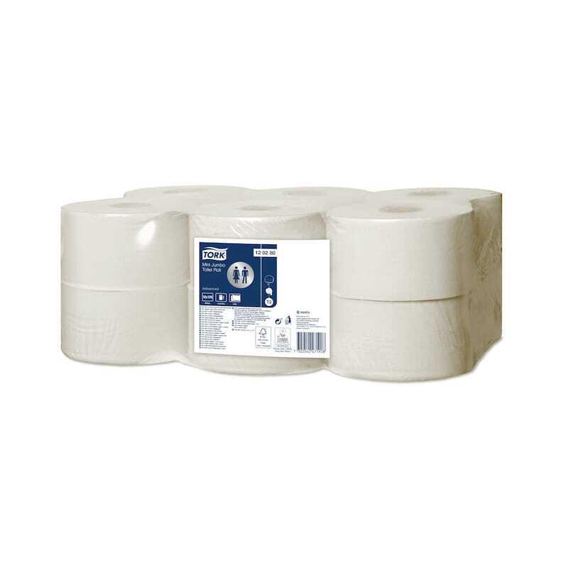 Tork Papier Toilette Mini Jumbo Advanced Blanc - Lot de 12