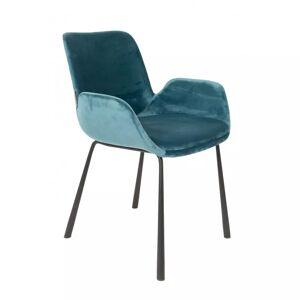 Zuiver Lot de 2 fauteuils Brit en velours Tissu