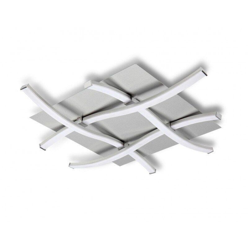 MANTRA Plafonnier design carré - NUR - ampoule led deco mantra Blanc Métal