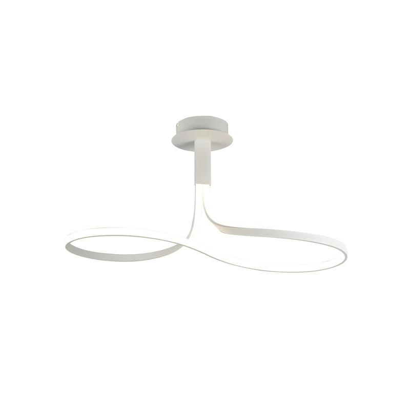MANTRA Plafonnier design en boucle - NUR - ampoule led deco mantra Blanc Métal