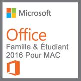 Microsoft Pack Office Famille Et Étudiant 2016 Pour Mac