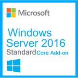MICROSOFT Windows Server Standard 2016 - Core Add-on 16 Noyaux / 16 Coeurs