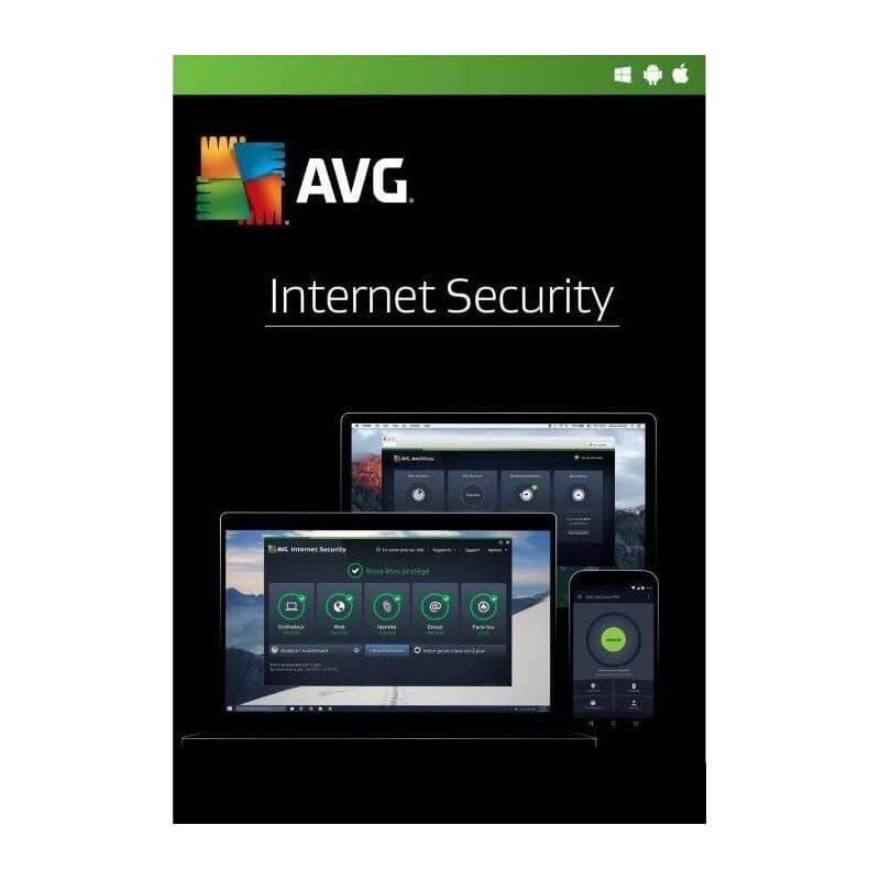 Avg Internet Security 2021 3 Appareils 1 An