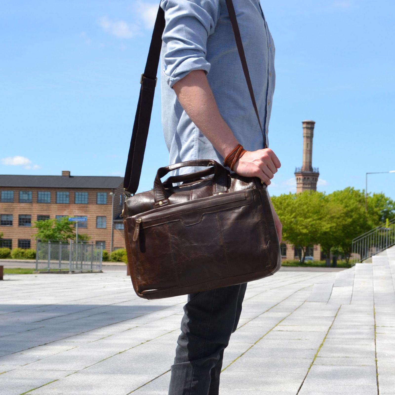 Delton Bags Sac en cuir marron Everyday