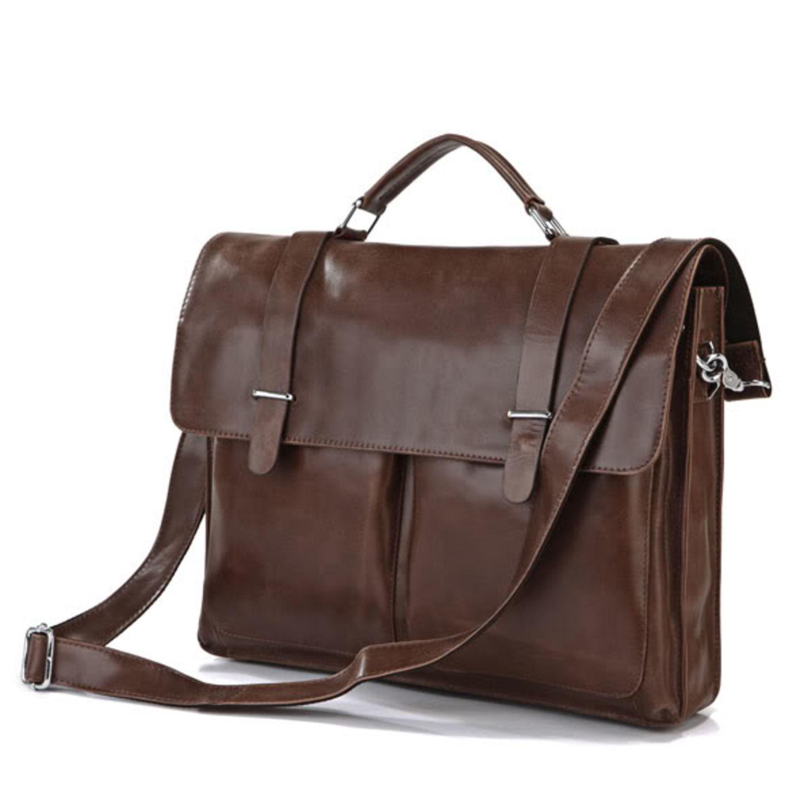 Delton Bags Sac en cuir marron vintage