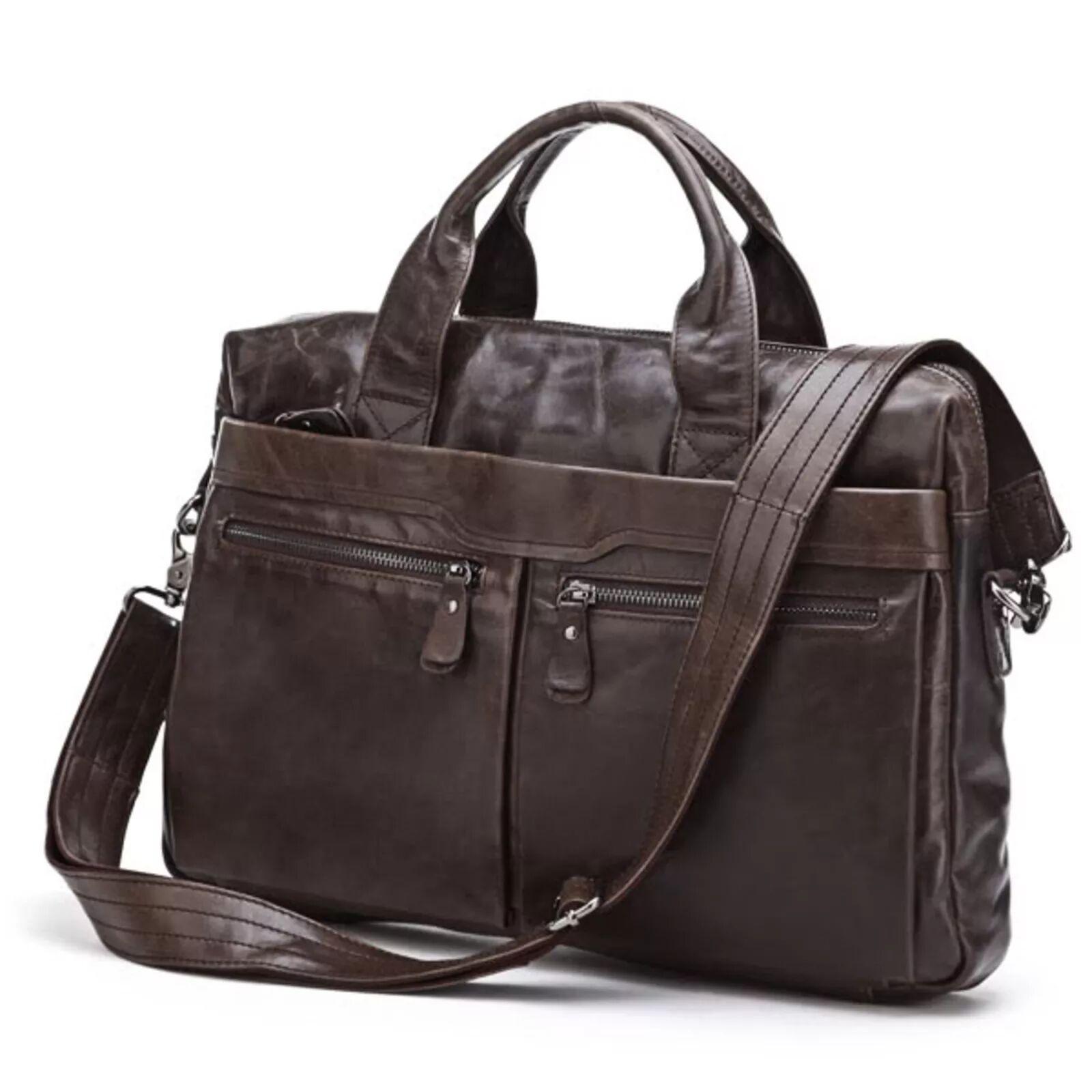 Delton Bags Sac en cuir pour ordinateur marron