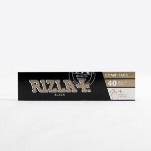Rizla+ Papier à rouler Rizla+ black slim + filtres - Publicité
