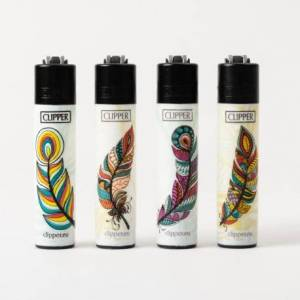 Clipper Briquet Clipper mini Feathers x4 - Publicité