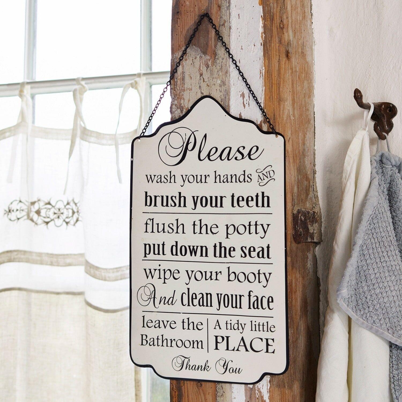 LOBERON Panneau décoratif Bathroom Rules