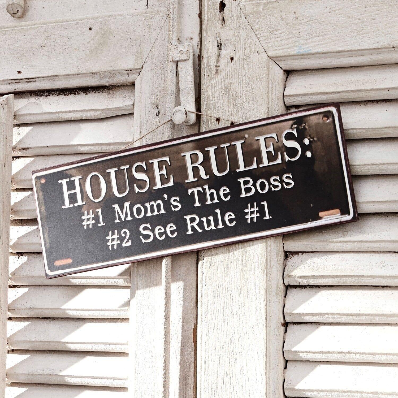 LOBERON Panneau décoratif Rules for Life