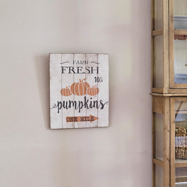 LOBERON Panneau décoratif Pumpkins