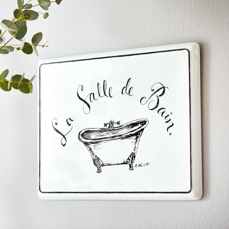 LOBERON Plaque décorative La salle de bain