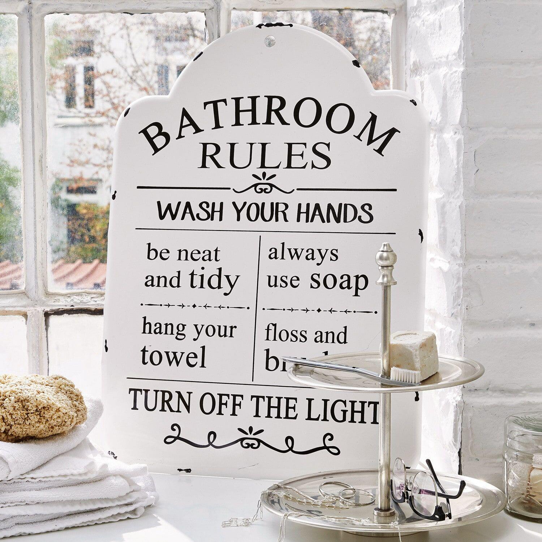 LOBERON Plaque décorative Bathroom