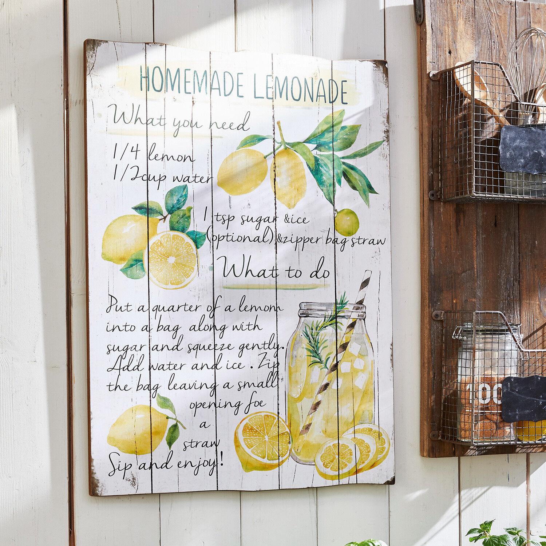 LOBERON Panneau décoratif Lemonade
