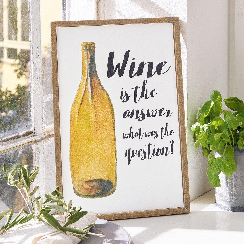 LOBERON Panneau décoratif Wine