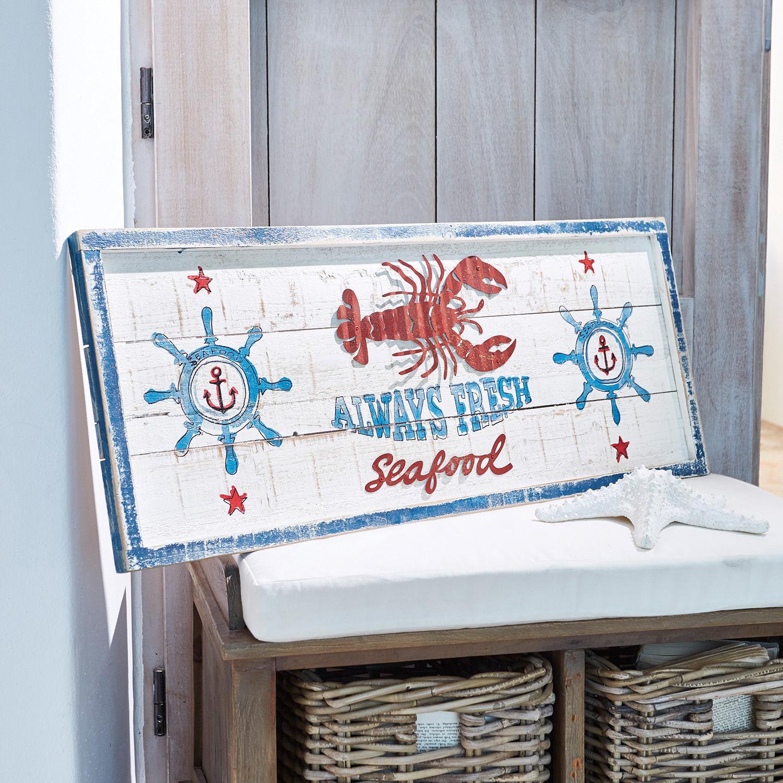 LOBERON Panneau décoratif Seafood