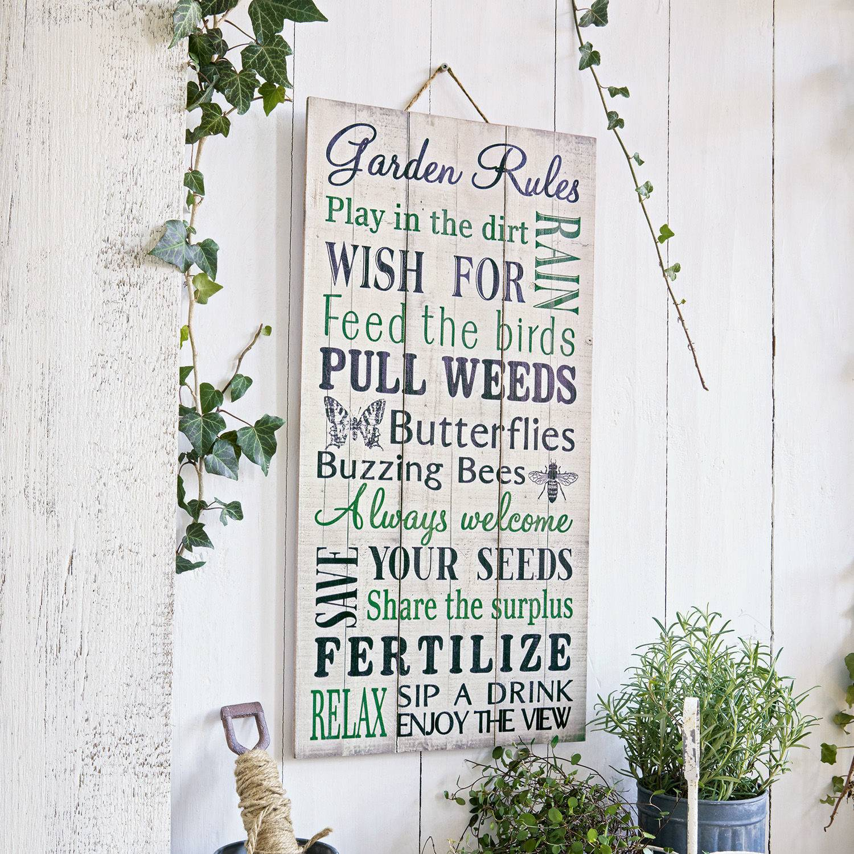 LOBERON Panneau décoratif Herbes