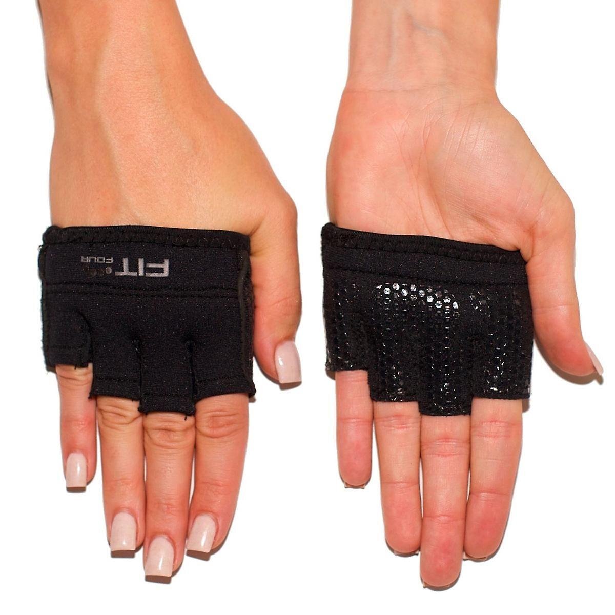 Fit Four Quatre fit les gants de musculation Fitness Neo Grip - noir XS