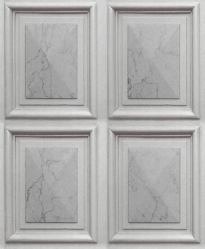 Erismann Effet marbre Faux luxe panneau bois colle à papier peint le mur vinyle Erismann gris