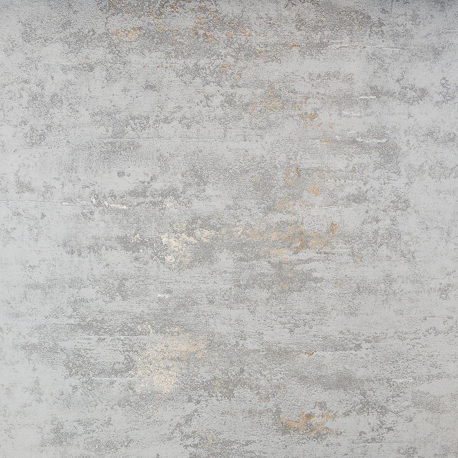 VerticalArt Papier peint brique pierre béton industriel collez le mur gris métallisé Bronze