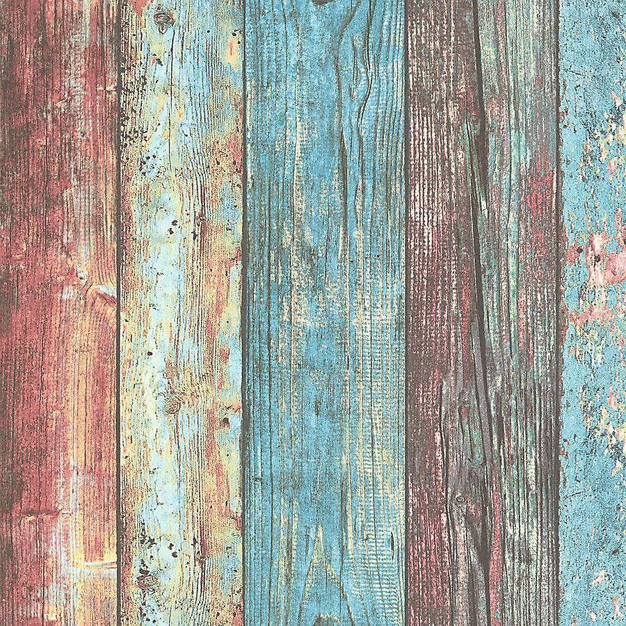 A.S. Creation Colle à papier peint effet bois planches planches la création de vinyle comme mur colorée