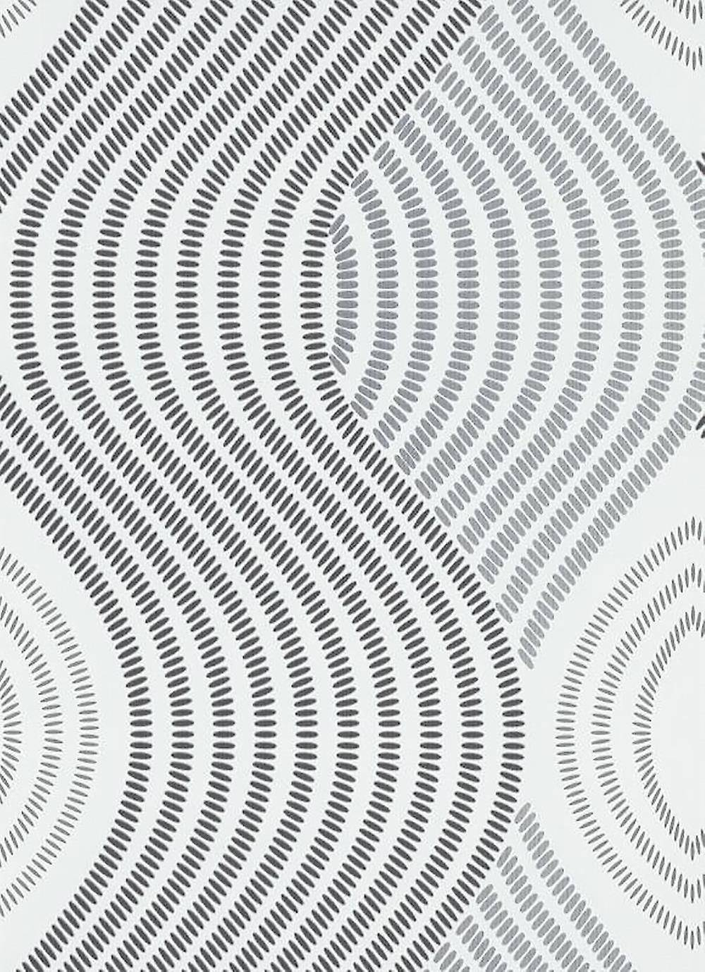 Erismann 3D Effect Waves Textured Wallpaper Erismann Coller The Wall White Black Silver