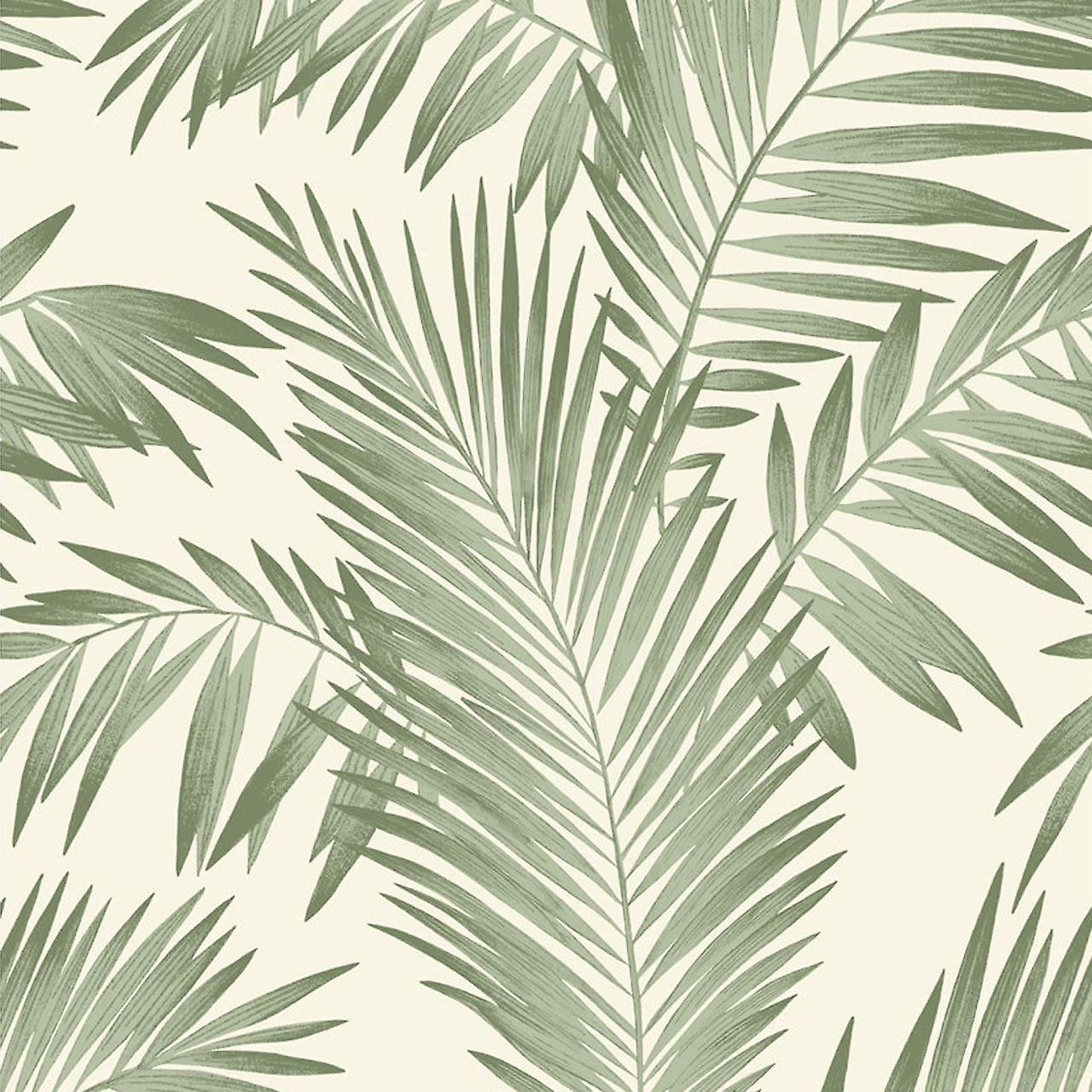 Arthouse Palmiers tropicaux arbre blanc papier peint vert feuilles feuilles luxe poids Arthouse