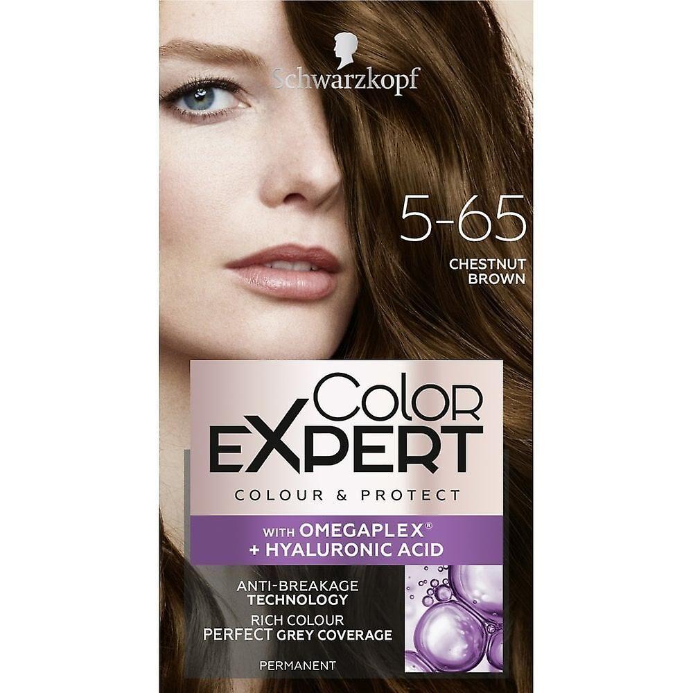 Schwarzkopf 3 x Schwarzkopf Couleur Expert Couleur Cheveux - Marron brun 5.65