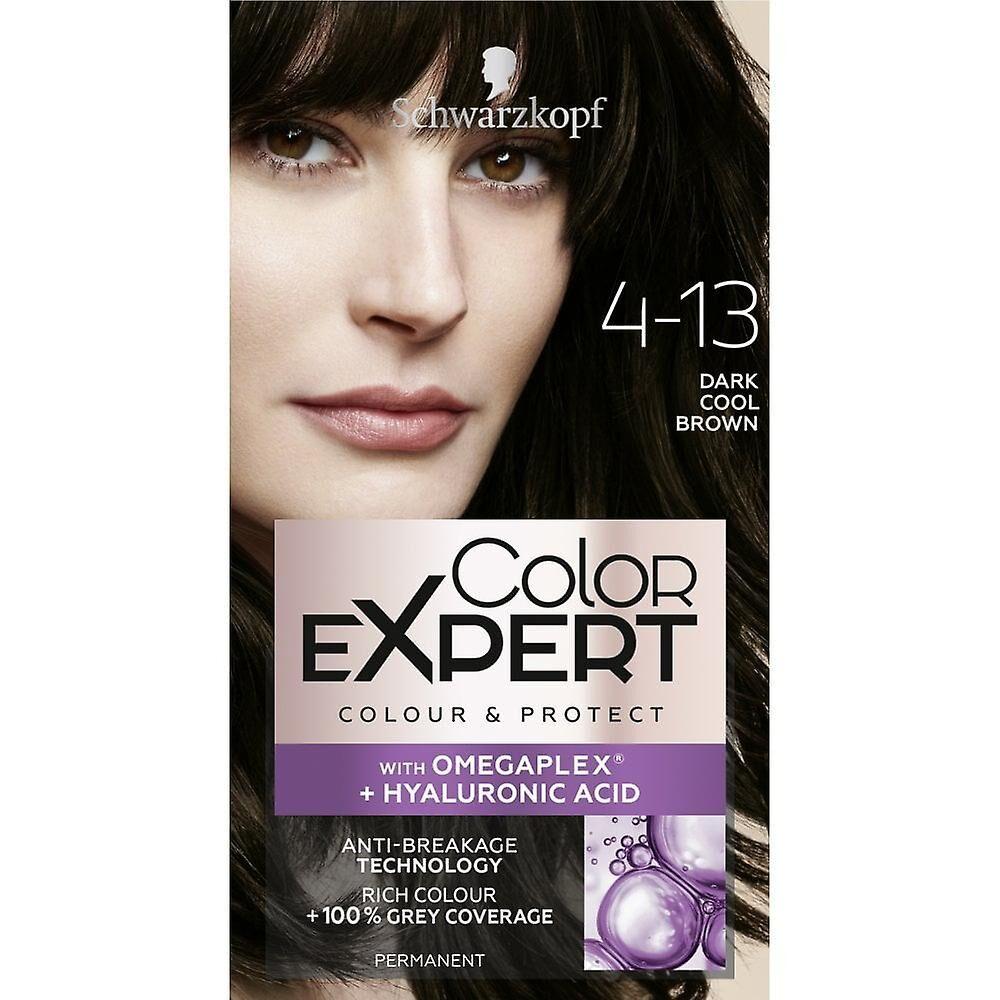 Schwarzkopf 3 X Schwarzkopf Couleur Expert Couleur Cheveux - Brun foncé cool 4.13