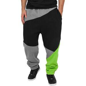 Urban Classics Urbains classics - gris de pantalons de survêtement ZIG ZAG / noir Gris/noir M