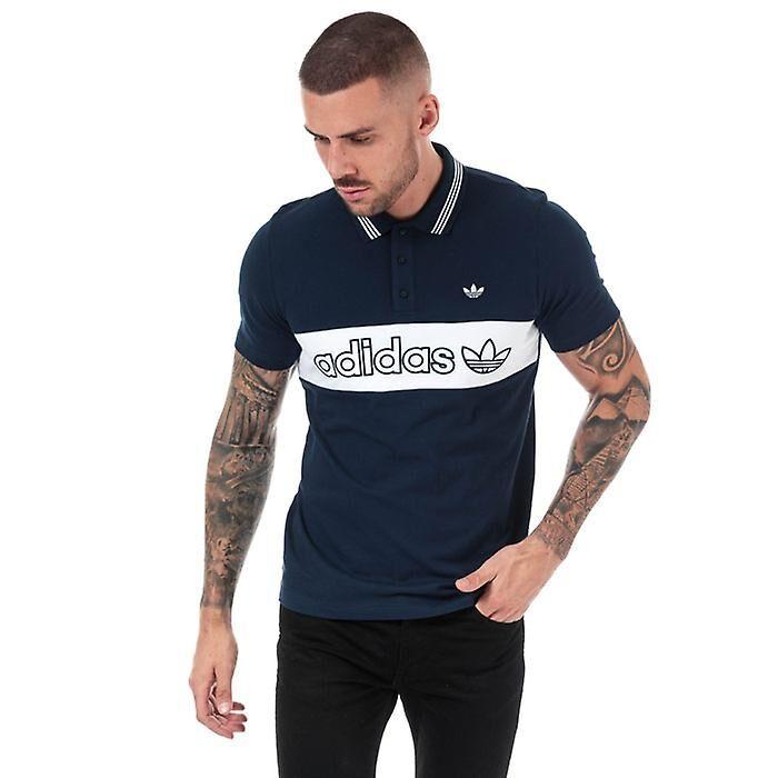 Adidas Chemise Polo Samstag Colourblock en bleu Marine S