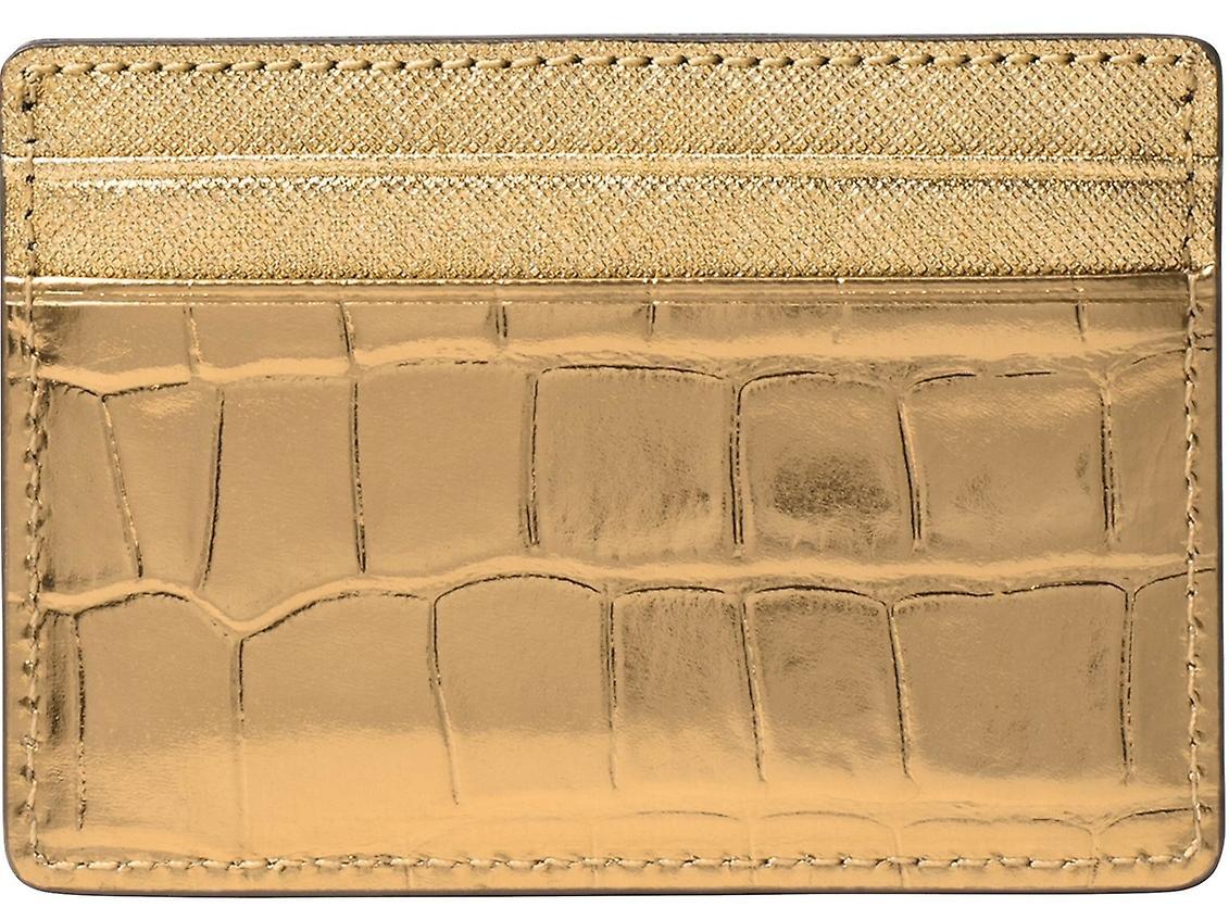 Michael Kors Jet Set voyage en relief-cuir métallisé - porte-cartes...