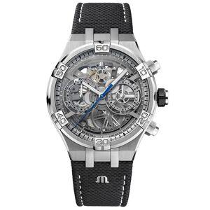 Maurice Lacroix AI6098-SS001-090-1 Homme-apos;s Aikon Automatique Skeleton Montre-bracelet Saphir/inox - Publicité