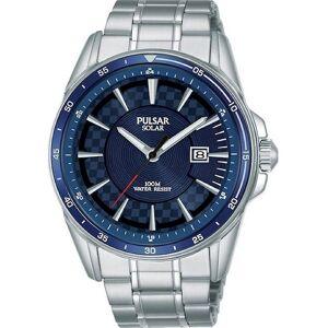 Pulsar PX3209X1 Homme-apos;s Bracelet solaire bracelet Quartz/inox - Publicité