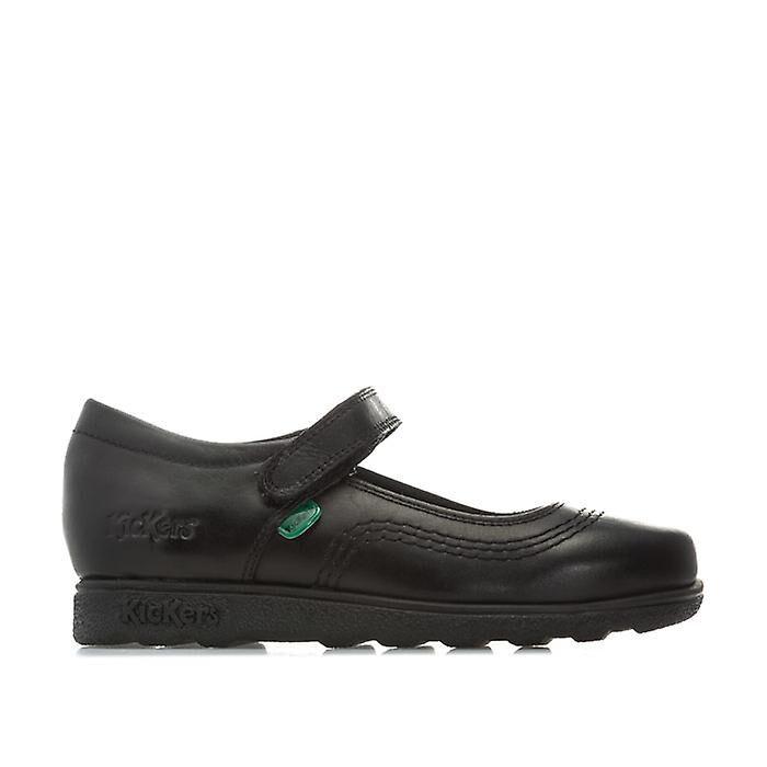 Kickers Girl-apos;s Kickers Enfants Fragma Pop Chaussures en cuir en noir 12.5 child