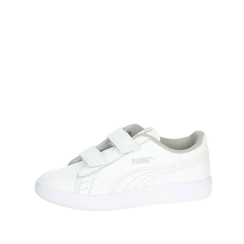Puma Smash V2 Cuir 36517302 universel toute l'année chaussures pour enfants blanc 13 Kid UK / 1 US / 32 EUR / 19 cm