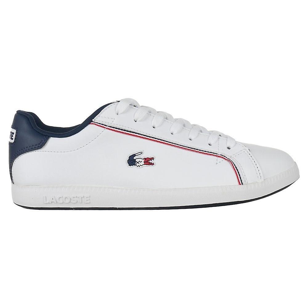 Lacoste Graduate 119 3 Sma 737SMA0022407 universal toute l'année chaussures pour hommes blanc/bleu/bleu marine 7 UK / 8 US / 40 1/2 EUR / 26 cm