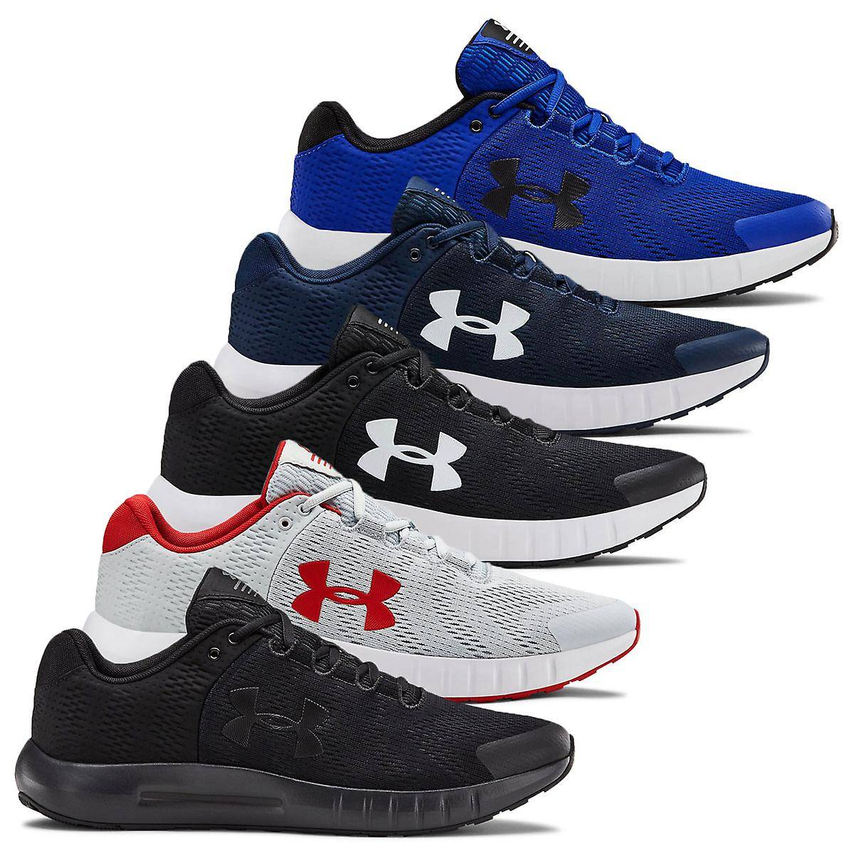 Under Armour Mens UA Micro G Pursuit BP Chaussures de course Noir/blanc UK 9